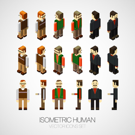 Vector isometric human set. Icon vector illustration 向量圖像