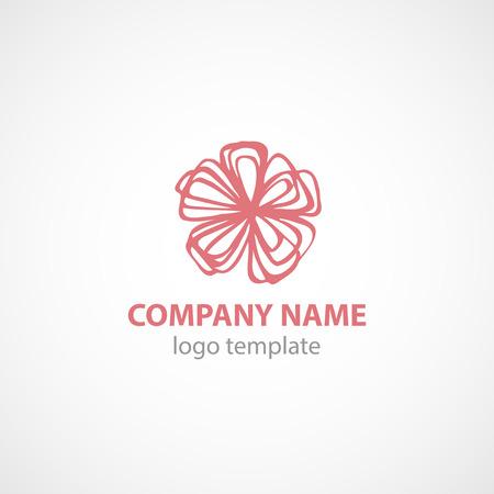 Logo Vector Template met bloem. EPS 10