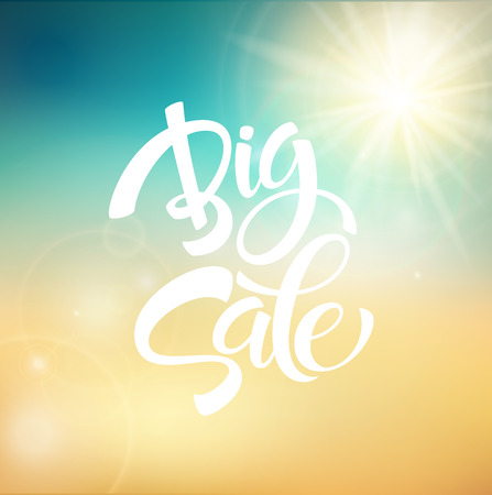 Big Sale Inscription. Kalligrafie. Belettering. Vector illustratie