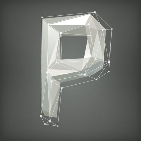Low poly alphabet. Letter. Vector illustration Vector