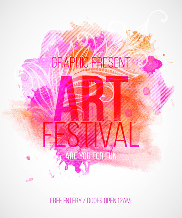 Art festival. Template poster. Vector illustration
