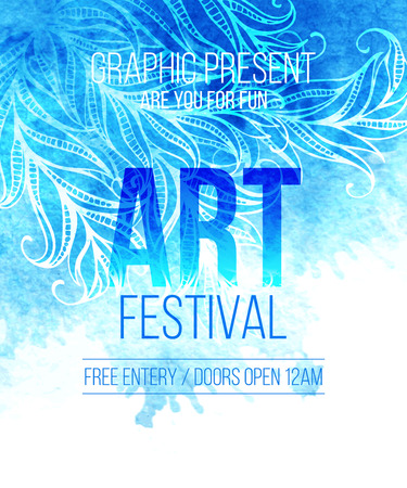 festival vector: Art festival. Template poster. Vector illustration