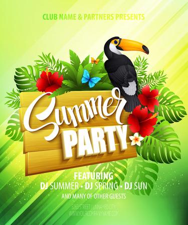 vacances d �t�: Summer party. Affiche mod�le. Vector illustration