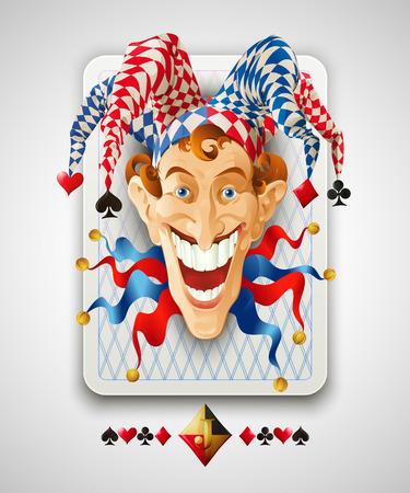 card symbols: Picture Jolly Joker. Vector illustration Illustration