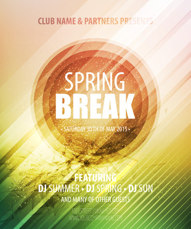 spring break: Spring Break Party. Template poster