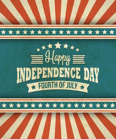 Retro typografie kaart Independence Day. Stockfoto - 38881758