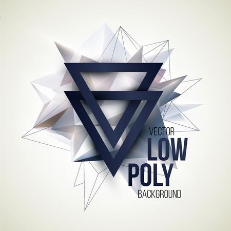 Laag poly driehoekige achtergrond. Design element. vector illustratie