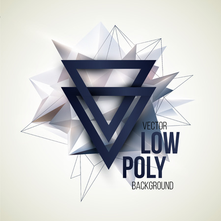 forme: Low poly fond triangulaire. Design element. Vector illustration