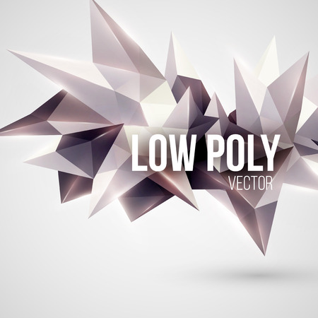 3d shape: Low poly triangular background. Design element. Vector illustration EPS 10