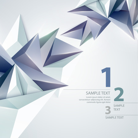 Low poly triangular background. Vector illustration EPS 10 Vector