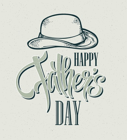 hand lettering: Happy Fathers Day. Hand lettering card. Vector illustration EPS 10