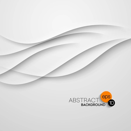 wave vector: Abstract wave white background. Vector illustration