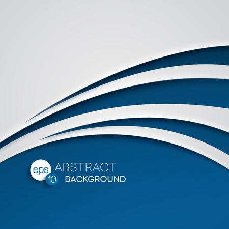 abstrakte muster: Abstrakte blaue Welle Hintergrund. Vektor-Illustration EPS 10