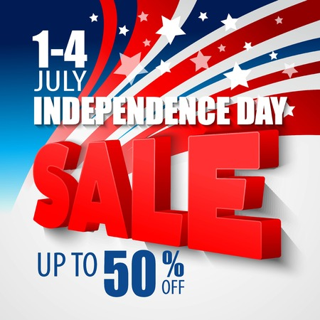 4th of july sale vector background EPS 10 Reklamní fotografie - 40079589