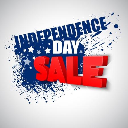 julio: 04 de julio la venta de fondo vector EPS 10