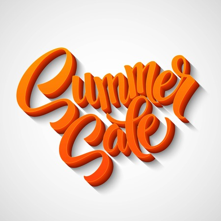 summer sale: Summer sale message on orange background