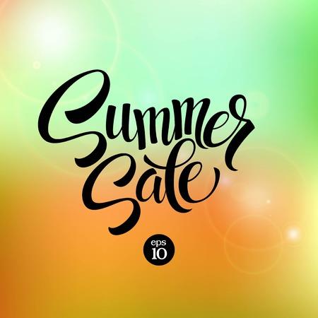 夏のセール、背景をぼかし。ベクトル イラスト EPS 140
