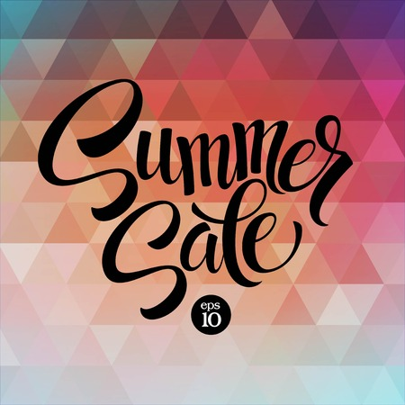 spring sale: Summer sale. The triangular pattern. Vector illustration