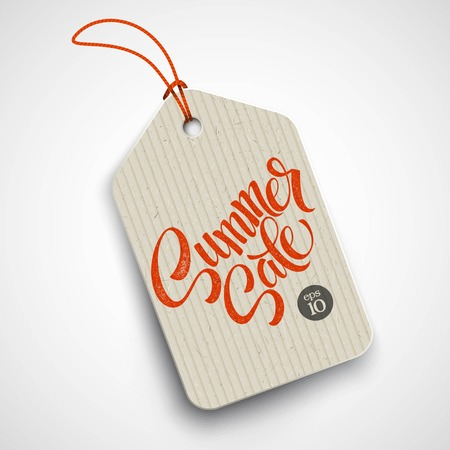 clothing tag: Summer  sale grunge label. Vector illustration