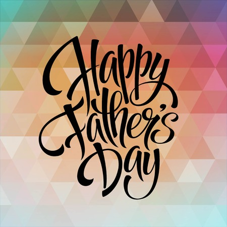 Greeting card template for Father Day.  Vector illustration Ilustração