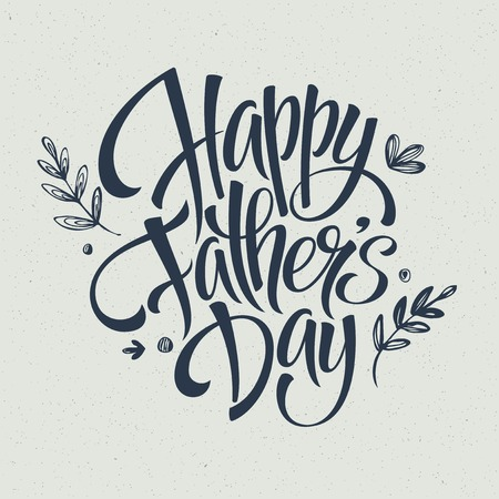 happy people: Greeting card template for Father Day.  Vector illustration Illustration