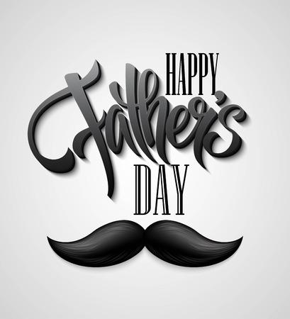 Glücklicher Vatertag Schnurrbart Karte. EPS 10 Standard-Bild - 40171840