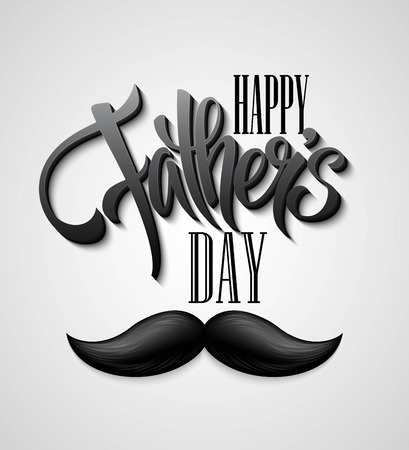 father s day: Happy Fathers Day mustache card. EPS 10