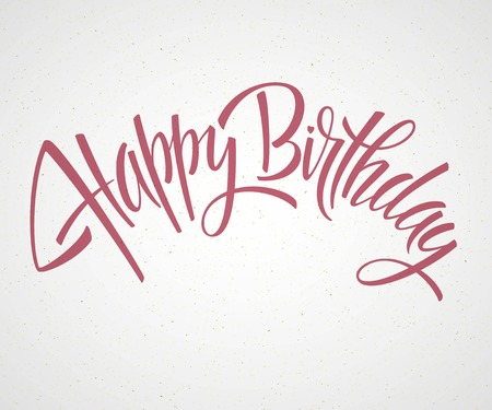 happy birthday text: Vintage Happy Birthday Typographical Background EPS 10