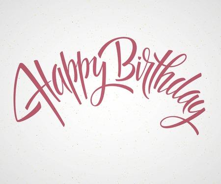 Vintage Joyeux anniversaire typographique Background EPS 10 Banque d'images - 40385307