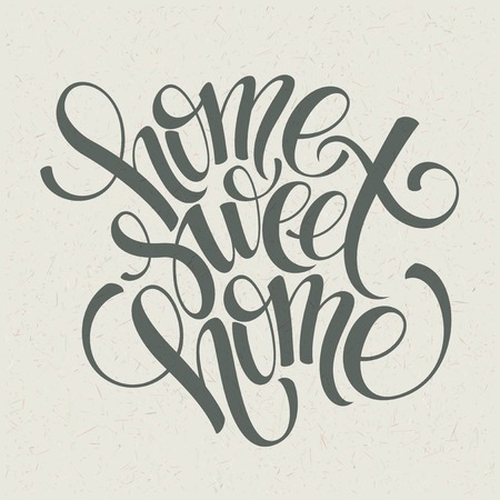 home sweet home hand lettering, vector illustration Eps 10 Ilustracja