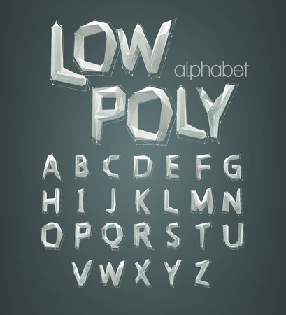 low poly alphabet font. Vector illustration EPS 10 Illustration