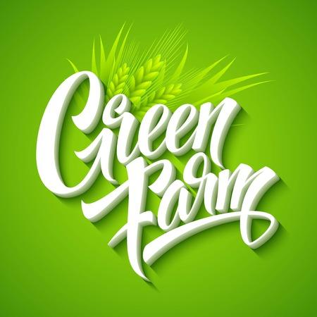 farm fresh: Farm Fresh, iscrizione calligrafica. Illustrazione vettoriale