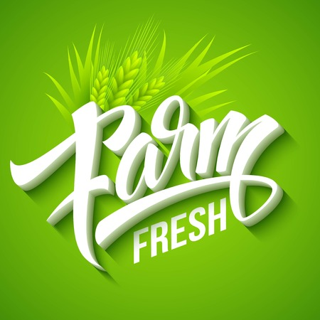farm fresh: Farm Fresh, calligraphic inscription. Vector illustration   Illustration