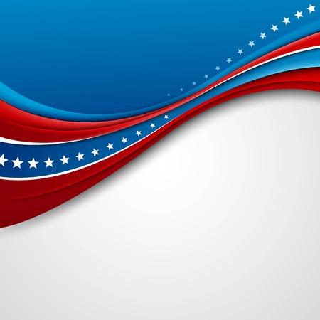 independencia: Bandera americana para el D�a de la Independencia. Ilustraci�n del vector.