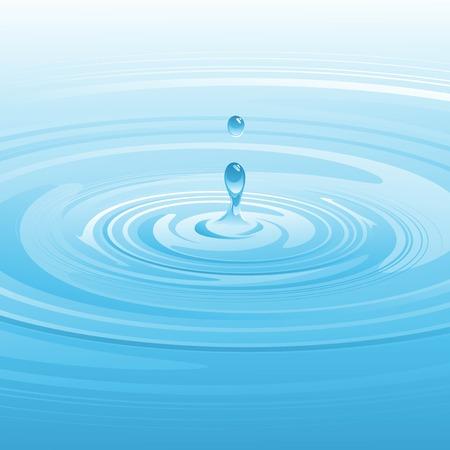 drop water: Falling water drop. Vector illustration