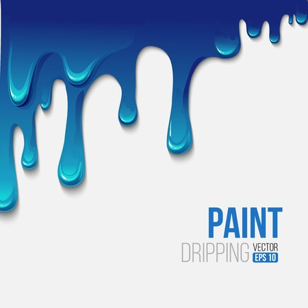 Paint colorful dripping background, vector illustration Vector Illustration