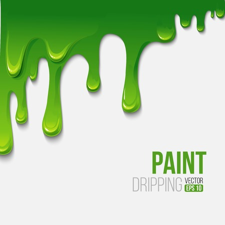 ink spill: Paint colorful dripping background, vector illustration
