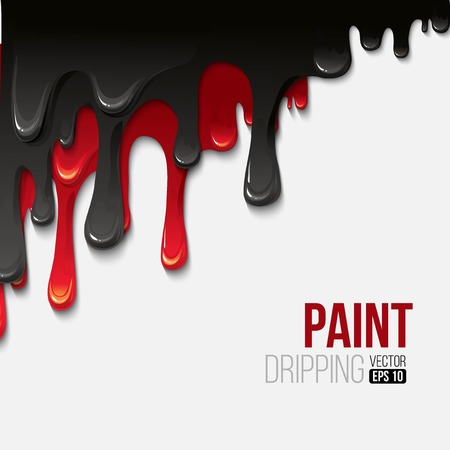 dripping: Paint colorful dripping background, vector illustration