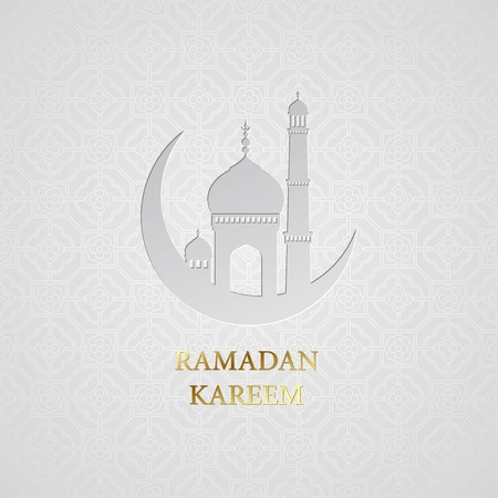 Ramadan greetings background. Ramadan Kareem.  Illustration