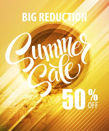 sale tags: Summer Sale Poster.