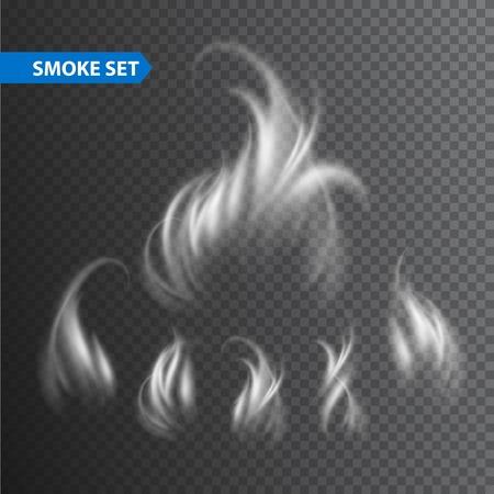 flames: Olas de humo sobre fondo transparente. Vectores