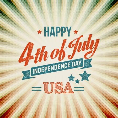 independencia: tarjeta de la tipografía Día de la Independencia. Ilustración del vector EPS 10
