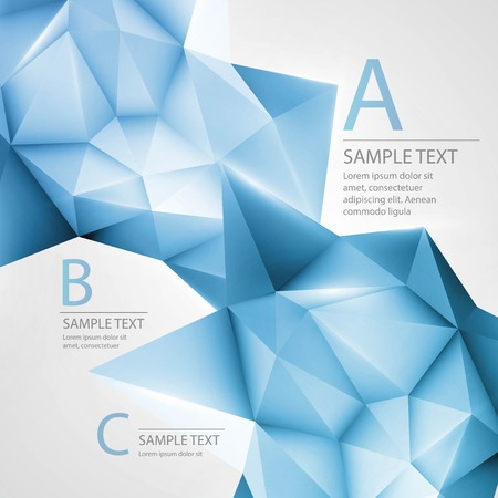 Abstract background with triangle.