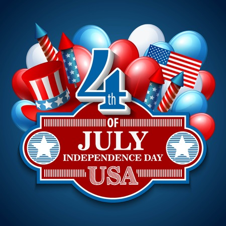 independence day america: American Independence Day.  Illustration