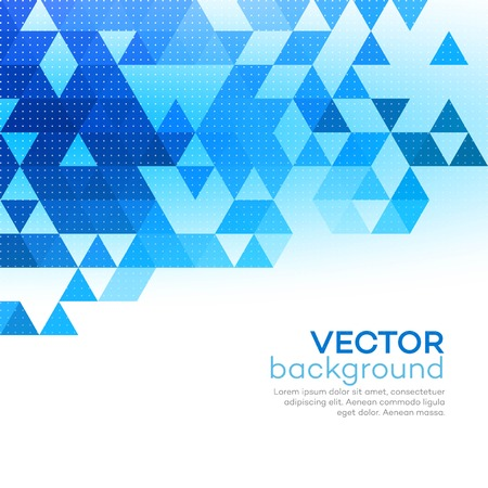 Abstract background made up of blue triangular shapes Vectores