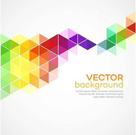 Color geometric background with triangles. Stock fotó - 41129776