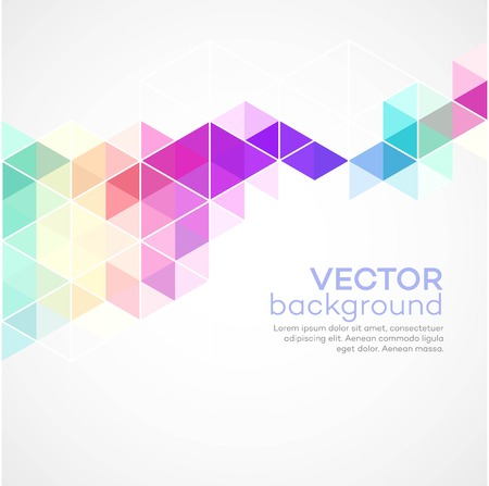 Color geometric background with triangles.