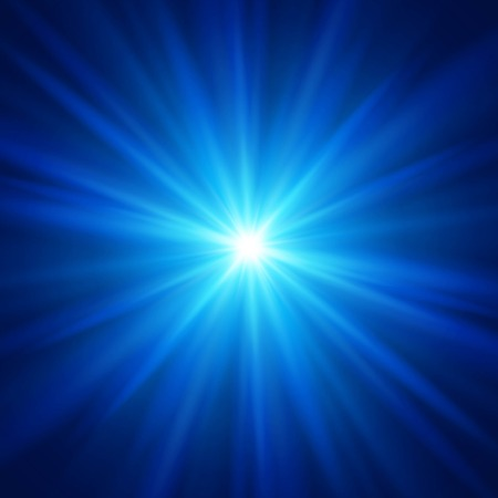 light effect: Blue color design with a burst.