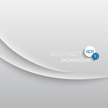 on a white background: Abstract wave white background. Vector illustration