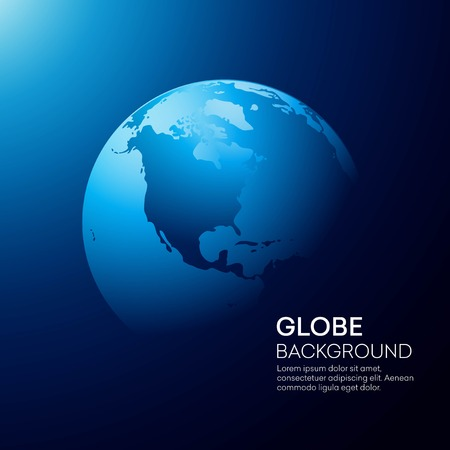 Blue globe earth background. Vector illustration Ilustrace